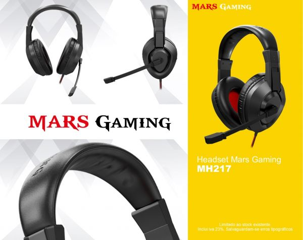 Headset Mars Gaming MH217