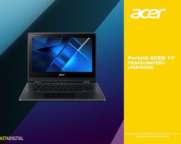 Portátil ACER TRAVELMATE 11'(4GB/64GB)