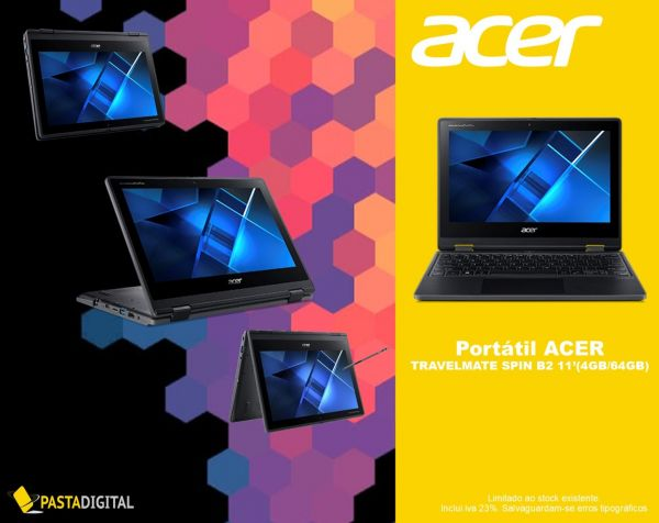 Portátil ACER TRAVELMATE SPIN B2  11'(4GB/64GB)