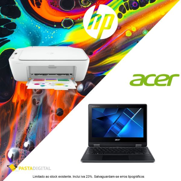 Bundle Portátil Acer Travelmate 11' + Multifunções HP 2710