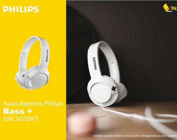 Auscultadores Philips Bass+